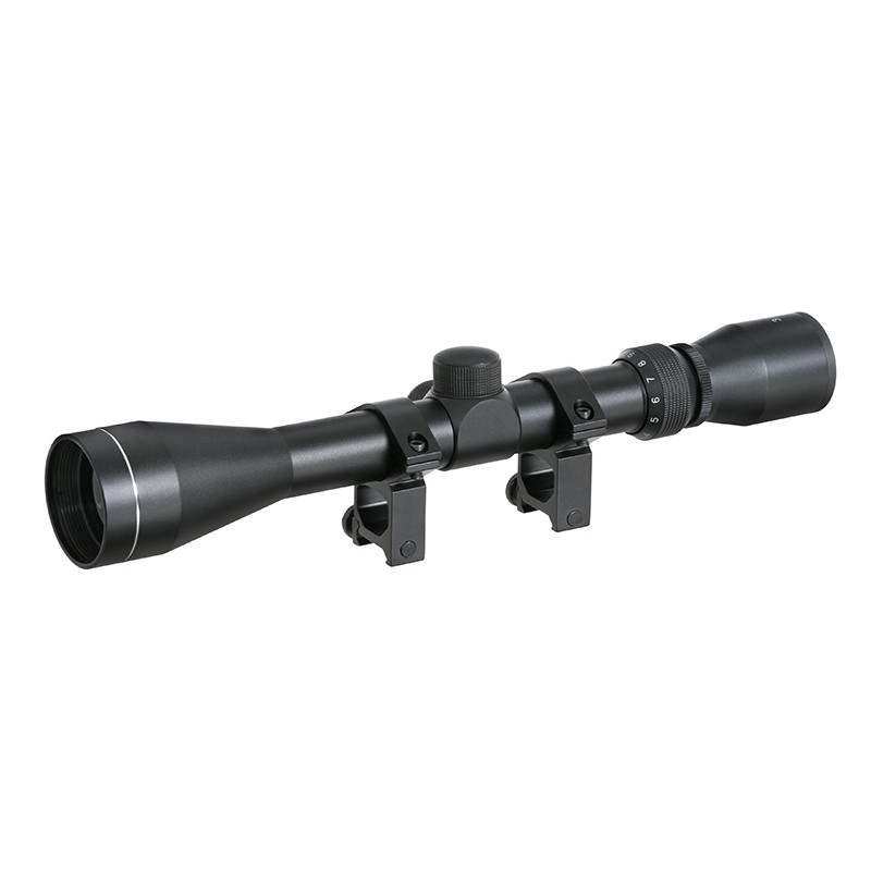 SCOPE 3-9X40 WITH HIGH MOUNT RINGS
