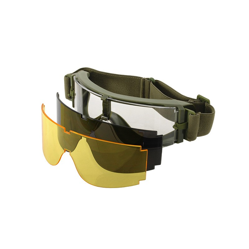 Goggles With 3 Glasses X800 Type anti fog OD