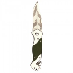 Knife + clip H254G10 green