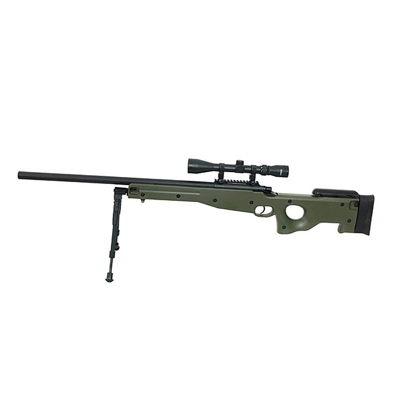 SNIPER RIFLE AGM002 - OD with scope and bipod