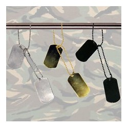 Dog tag - gold color