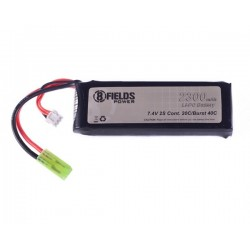 8FIELDS Li-Po Battery2300mAh 7,4V 20/40C