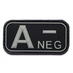 Patch 3D PVC blood type A negative with velcro