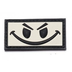 Patch 3D PVC Evil smiley with velcro