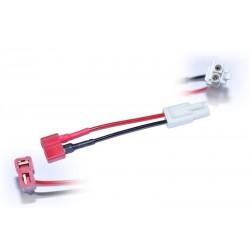 Battery Wire Plug Converter T-shape (femeil) - mini meil plug