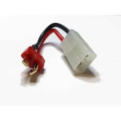 Battery Wire Plug Converter T-shape (male) - Large female plug