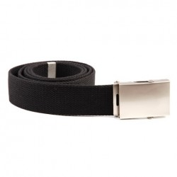 Web belt with silver buckle Black