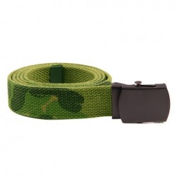 Web belt with black buckle woodland