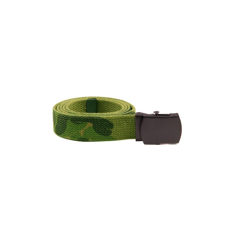 Web belt with black buckle woodland