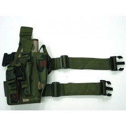 Univeral Drop Leg Large Pistol Frame Holster Camo Woodland