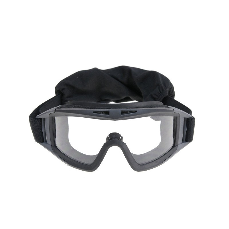 Low-Profile Goggles With 3 type Glasses – BLACK