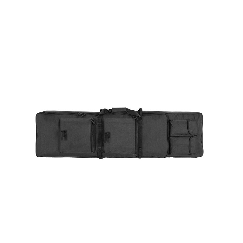 Double rifle gun case 120cm airsoft - Black