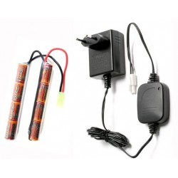 battery, charger, set, G&G,  1600 mAh