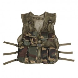 Kids tactical vest - wodland camoflage