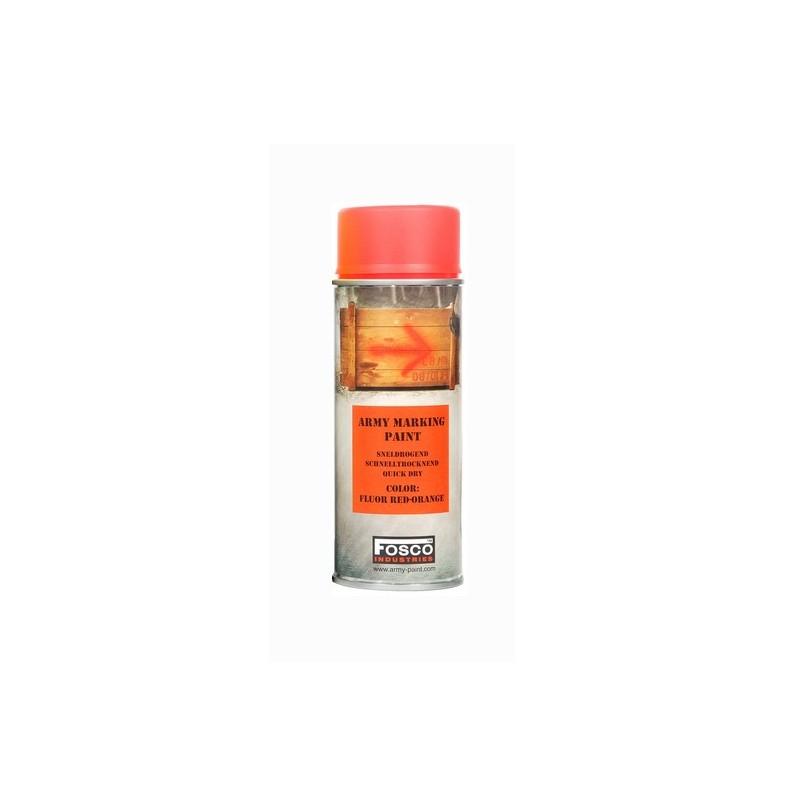 Fosco Camouflage Spray Paint Fluor Red Orange