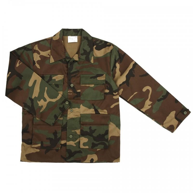 Kids jacket, woodland camo