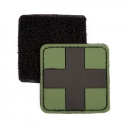 Patch 3D PVC black cross