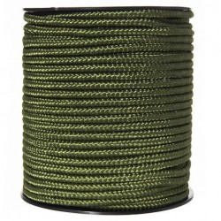 Utility rope on roll 5 mm - 1meter, green color