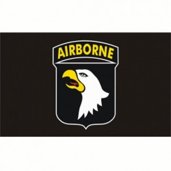 FLAG AIRBORNE 101e div. black, Airsoft game