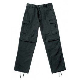 Kids BDU zip-pants woodland