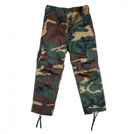 Kids BDU zip-pants woodland