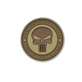 4TAC - PVC Patch - God Will Judge Our Enemies - Coyote Brown
